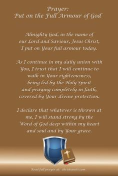 Prayer:  Full Armour of God