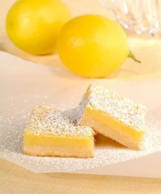 3pts weight watchers lemon bars. They totally hit the spot!