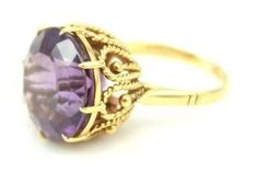House of Lavande 1950's Unsigned Amethyst Ring