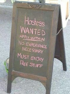 .Hostesses wanted....