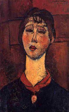 Амедео Модильяни -  Мадам Дориваль  (1916) -  Частная коллекция
