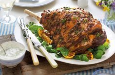 The lemon and cumin rub on this roast lamb pack it full of succulent spicy flavour. Tesco Real Food, Real Food Recipes, Yummy Food, Delicious Meals, Roast Lamb Leg, Prep Kitchen, Lamb Recipes, Easter Dinner, Recipe Images