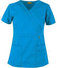 "WonderWink Origins Golf ""Lady"" Fit Mock Wrap Top   WonderWink Scrub Shop #scrubs #uniforms #nurses #nursing"