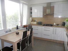 Image result for kuchyn v panelaku Sweet Home, Kitchen Cabinets, Table, Inspiration, Image, Furniture, Home Decor, Biblical Inspiration, Decoration Home