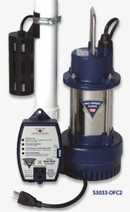 The Pro Series S3 sump pump comes with a digital control that will help monitor the condition of the sump pump.