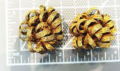 Wild Wind Blown Darkened Brass Ribbon Cluster Effect Clip Back Earrings #Unbranded #Cluster