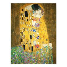 Gustav Klimt The Kiss Art Nouveau Print