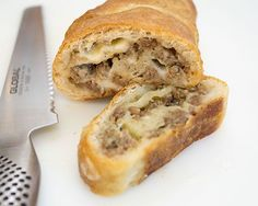 Several years ago, I had this incredible Sausage Bread that my sister made. I've been wanting to mak Good Food, Yummy Food, Yummy Lunch, Tasty, How To Cook Sausage, Breakfast Recipes, Breakfast Ideas, Breakfast Dishes, Breakfast Time