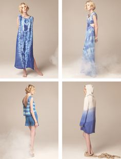 Lindsey Thornburg  This reminds me of the shibori indigo dyeing I did at The Makerie Sewing weekend with Kaari Meng!