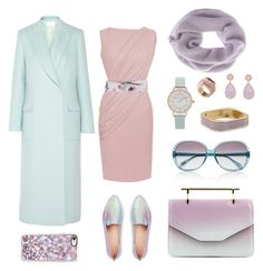 """Lavender&Tiffany Blue!"" by esenyav on Polyvore featuring мода, PALLAS, Kate Spade, M2Malletier, Mint Velvet, Casetify, Oliver Peoples, STELLA McCARTNEY, Olivia Burton и Kattri"
