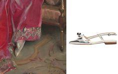 Frances Valentine Caroline metallic leather closed-toe slingback flats, $395 francesvalentine.com