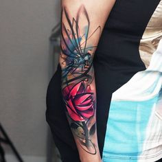"5,041 Likes, 69 Comments - Uncl Paul Knows (@uncl_paul_knows) on Instagram: ""#dragonfly and #flower #tattoo i did while #guestspotting  at #Warsaw #june2016 ..!!! with…"""