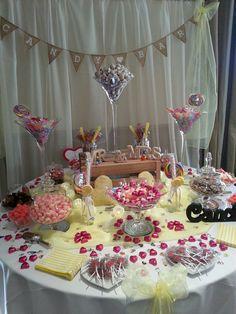 """Yellow """"Simpsons"""" wedding sweet table"""
