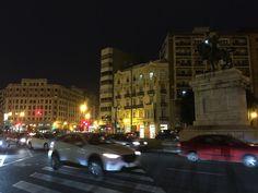 Evening traffic - Gran Via, Valencia
