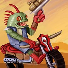 #art #painting #drawing #wow #fantasy #design #concept #murloc #digital #illustration #drawing #cool #cute #awesome #motorcycle #bike Wacom Intuos, Motorcycle Bike, Digital Illustration, Concept Art, Digital Art, Photoshop, Fan Art, Drawings, Awesome