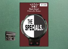 Royale Classic Car Badge & Bar Clip THE SPECIALS TWO TONE Mod B1.2380