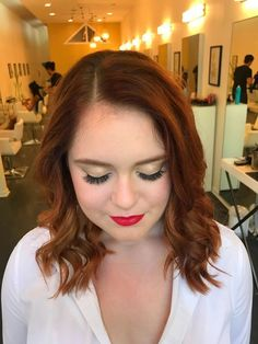 check out this elegant, vintage makeup + hair look, perfect for prom, weddings + other special events | hair + makeup by goldplaited #weddingmakeup