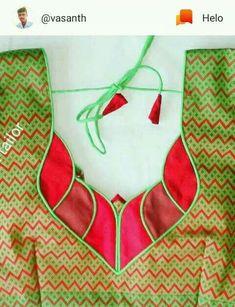 Chudidhar Neck Designs, Neck Designs For Suits, Neckline Designs, Dress Neck Designs, Salwar Suit Neck Designs, Kurta Neck Design, Saree Blouse Neck Designs, Patch Work Blouse Designs, Simple Blouse Designs