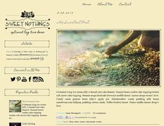 Premade Blogger Template  SWEET NOTHINGS  Custom by LisasMenagerie, $35.00