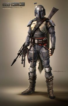 Boba Costume #ConceptArt from #StarWars1313 by #GustavoMendonca