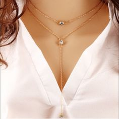 ✨Host Pick ✨Two Layered Rhinestone Necklace Perfect and fabulous! Jewelry Necklaces