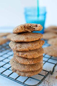 Take a bite out of thes sugar free almond flour peanut butter cookies.