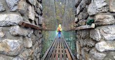 Wallfahrtskirche Locherboden: Über die Hängebrücke musst du geh'n   Tiroler Tageszeitung Online – Nachrichten von jetzt! Innsbruck, Flora Und Fauna, Kirchen, Adventure, Hole Punch, Air Fresh, Road Trip Destinations, Messages, Hiking