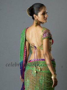 Backless #Saree Blouse by Bhargavi Kunam, Hyderabad http://www.facebook.com/bhargaviram ~