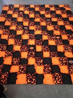 Harley Davidson Rag Quilt I made
