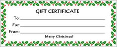 Printable Christmas Certificates | Search Results | New Calendar ...