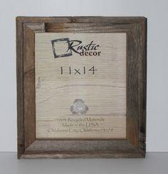 11x14 rustic reclaimed barn wood signature wall frame