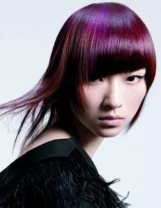 purple hair color 2012