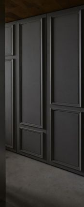 Rectangular Molding, for office space Interior Design Living Room, Living Room Decor, Wall Molding, Moldings, Wall Design, House Design, Wall Trim, Home And Deco, Wainscoting