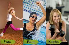 Ayruveda Doshas - Exercise! Learn more: http://www.foodpyramid.com/ayurveda/ #dosha #ayurveda #vata #pitta #kapha