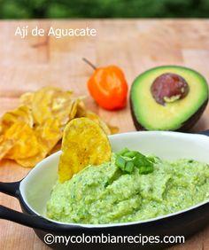 Ají de Aguacate (Colombian Hot Avocado Sauce) Empanadas sauce!