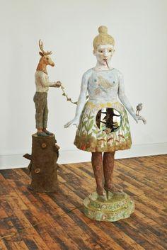 Kathy Ruttenberg - Exhibitions - Stux Gallery -A Little Birdie Told Me, 2014, Ceramic, 72 x 55 x 34 in (183 x 140 x 87 cm)