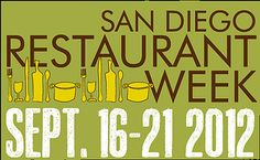 Where to go during San Diego Restaurant Week.