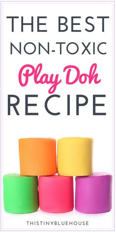The best non-toxic DIY play-doh recipe for kids.