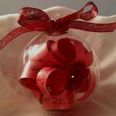 A great way to keep your loved ones with you on Christmas by making their own ornament