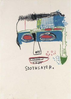 Jean-Michel Basquiat Soothsayer coloured pencils on paper 16¼ x 11 5/8in. (41.2 x 29.4cm.) Executed in 1983. MORE