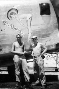 B-24 Liberator bomber Nose Art Our Honey 22nd Bomb Group
