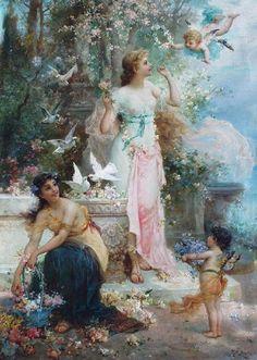 Hans Zatzka - 1859/1945 - Pintor Austríaco.