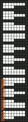 Alpha Friendship Bracelet Pattern #6426 - BraceletBook.com