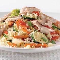 Couscous-groentesalade met makreel recept - Groente - Eten Gerechten - Recepten Vandaag