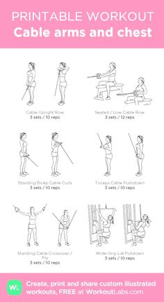 Chest And Tricep Workout, Chest Workout Women, Gym Workout Plan For Women, Gym Workouts Women, Triceps Workout, Chest Workouts, Oblique Workout, Workout Plans, Workout For Gym