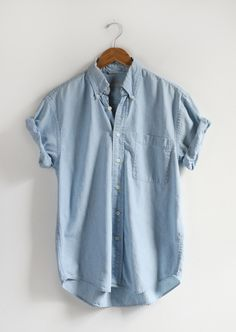 Vintage Short Sleeve Denim Shirt — Everything Golden