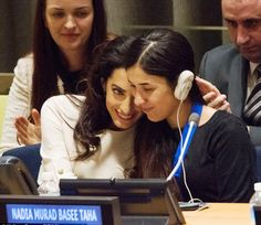 Amal Clooney fight for women at United Nation | Amal Clooney at the United Nations with Nadia Murad UNODC Goodwill ...