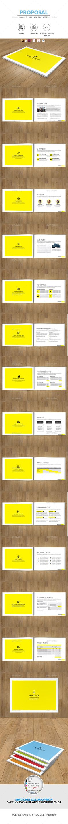 Finance, Proposals and Brochure template on Pinterest - construction work proposal template