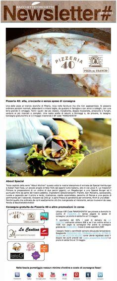 La newsletter di bacchetteforchette del 6/5 tra le promozioni freedelivery sulla pizza al trancio