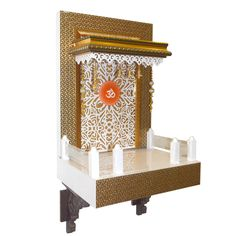 The Mandir Store manufacturer and supplier of wooden designer mandirs brings to you best-in-class contemporary designer wooden pooja mandir with LED lights for Home and Office spaces. Pooja Room Design, Wooden, Room Design, Pooja Rooms, Interior, Home, Prayer Room, Led Lighting Home, Temple Room